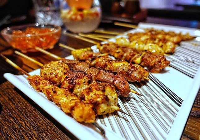 Indulge in the sumptuous Yakitori and cocktails @chikinbar  Japanese style skewered meat peppered with Szechuan condiments and grilled over charcoal fire.
