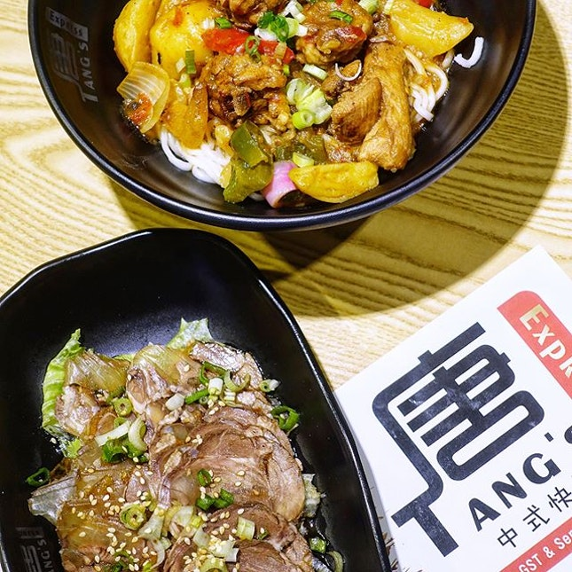 Power Up Your Appetite at Tang's Express in @citysquaremallTang's Express offers Chinese - Taiwanese cuisine and their signature dish is the Classic Four in One Noodle that consist of springy noodles tossed in their housemade sauce and paired with braised pork, potato, carrot , green pea, tomato and egg.