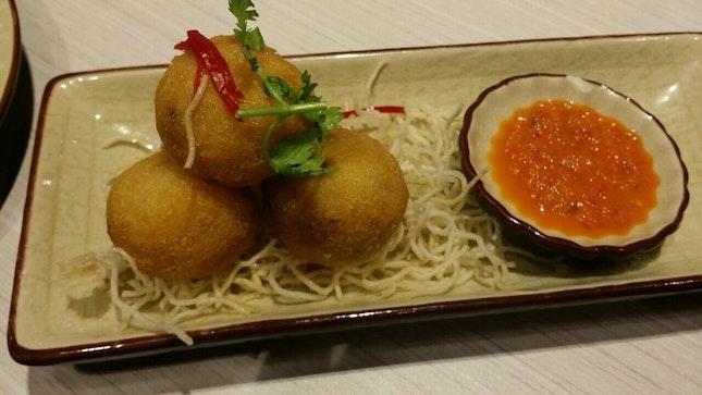 Crispy Chicken Rice Ball