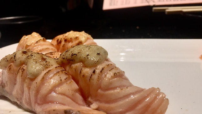 Garlic Miso Aburi Salmon