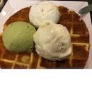 Crisp Waffle With Ice Cream