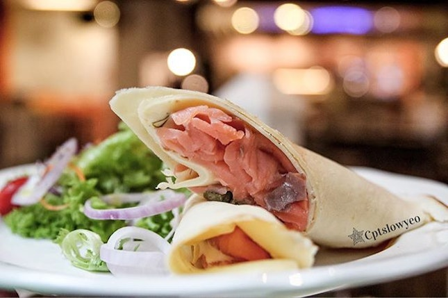 Missing my smoked salmon crepe I had at @fikacafesg  The crepe was thin and fragrant.