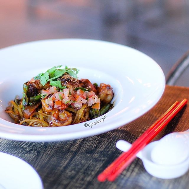 The East Bureau Signature  Sautéed with local spices and herbs from Southeast Asia, chilli, shrimps and vegetables  Loved the texture of the noodles!