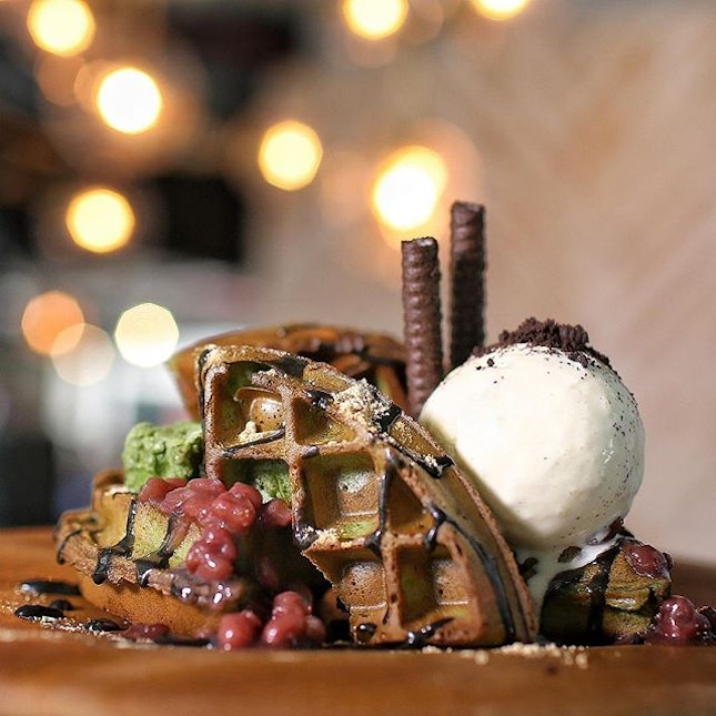 Super stoked to meet my favourite Matcha Waffles again!