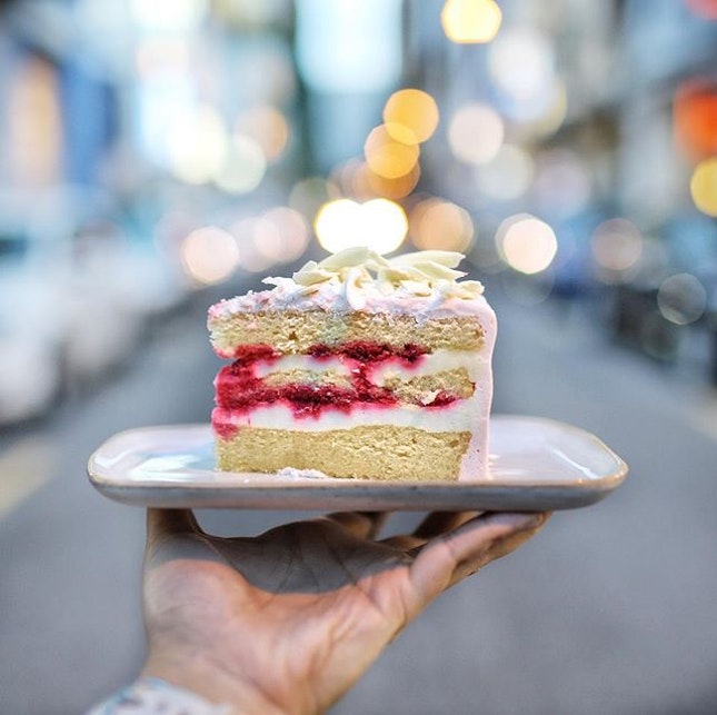 Yuzu Raspberry $9 🍰 A high quality cake that is sure to satisfy your sweet tooth!