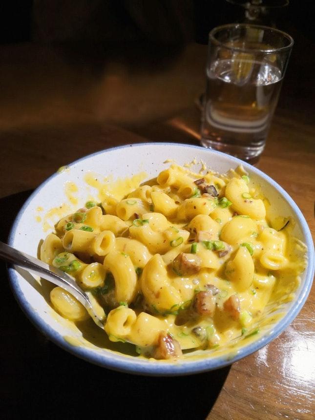 Mac N' Cheese Add Char Siu Bacon ($26)
