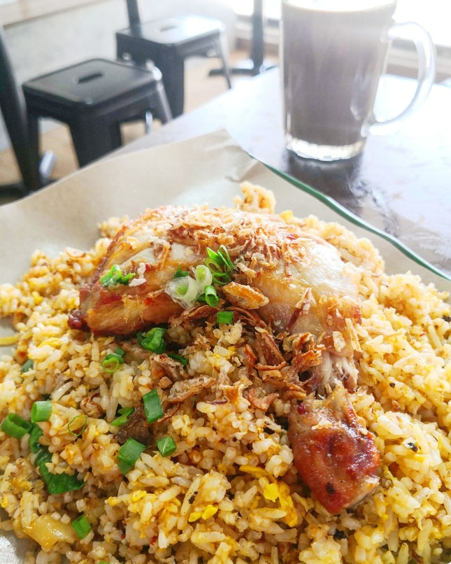 Nasi Goreng With Ayam Goreng