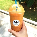 #throwback Nothing like a good iced Thai milk tea from Waan Cha to quench my thirst during this hot hot hot hot afternoon.