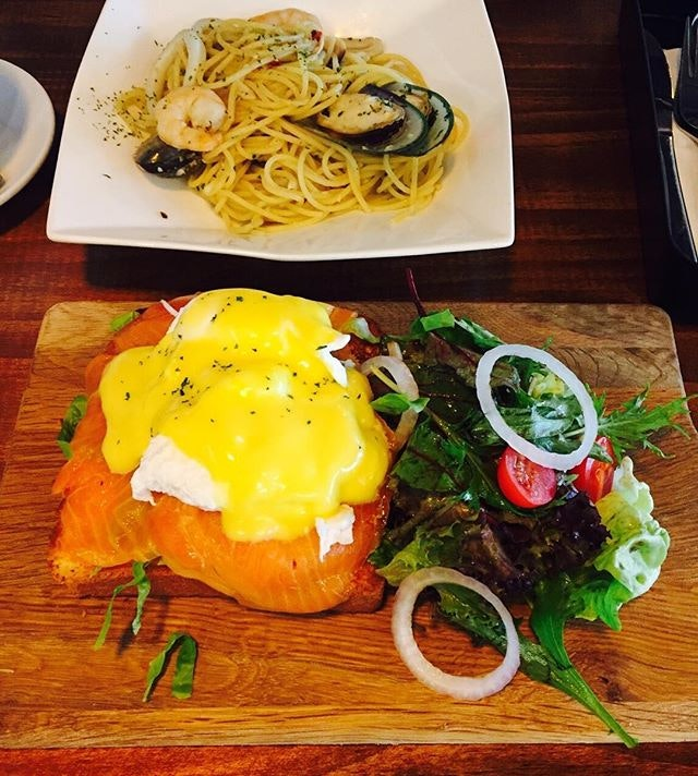 Smoked Salmon Egg Benedict.