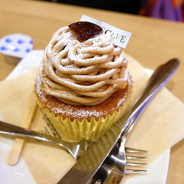 Mont Blanc cup cake for breakfast?