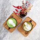 Calming and relaxed day with our #genmaicha and #houjicha lattes.
