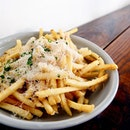 That distinct smell and taste of truffle is strong in this plate of fries!