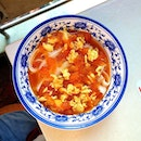 Shi Xiang Ge 食香阁 Toothsome slithery QQ knife-cut Noodles in a bowl full of tomato and egg.