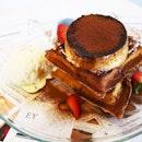 Tiramisu waffle (RM$15) 2 pieces of quaffles with cocoa, creme caramel pudding, cream and vanilla ice cream drizzled with Irish Cream Espresso!