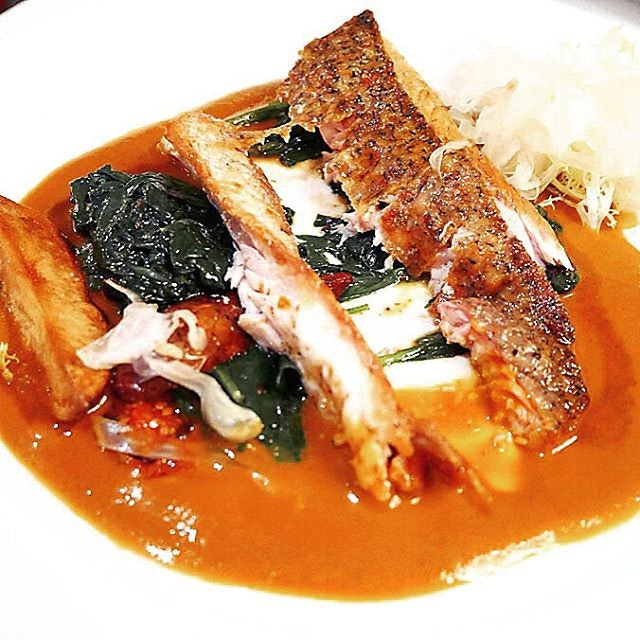 Seabass alla Livornese - one of the mains for the Christmas Day Menu (available only on 25 December for lunch and dinner) at $68++ per person.