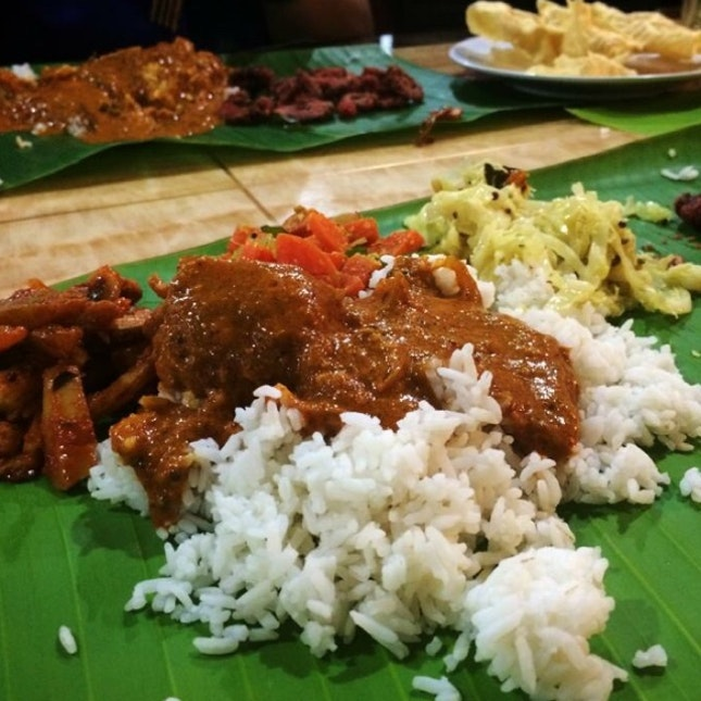 Banana rice with awesome crab curry