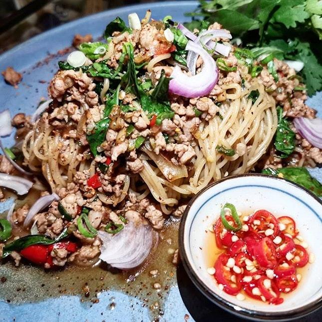 Thai style minced iberico ramen, iberico pork collar, 🍄, iberico Thai pork stick, truffles fried rice, hida beef, octopus  #amayzing_tamandesa #burpple