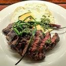 #Wagyu #ribeyecap #steakandeggs 🐄🐓 #chimichurri.