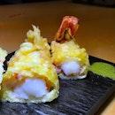 Super big Hokkaido tempura prawns.