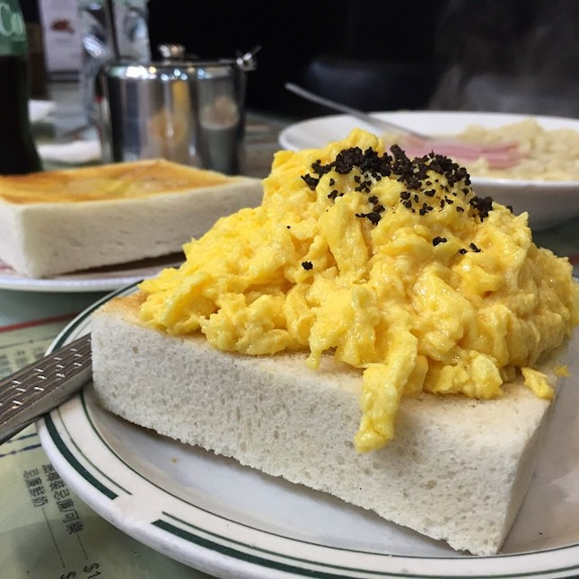 Dinner Part I; Been a long time since I had such awesome scrambled eggs!