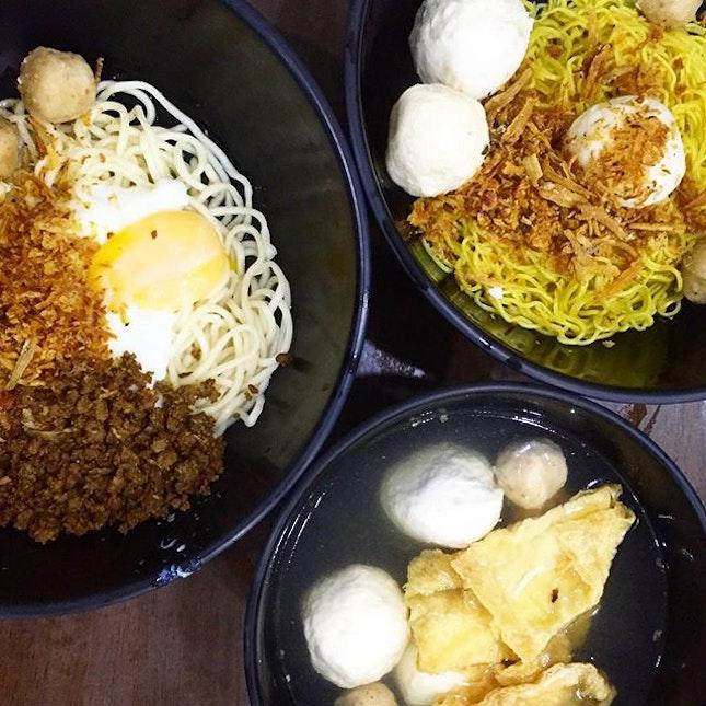 A simple dinner - Kin Kin Chilli Pan Mee.