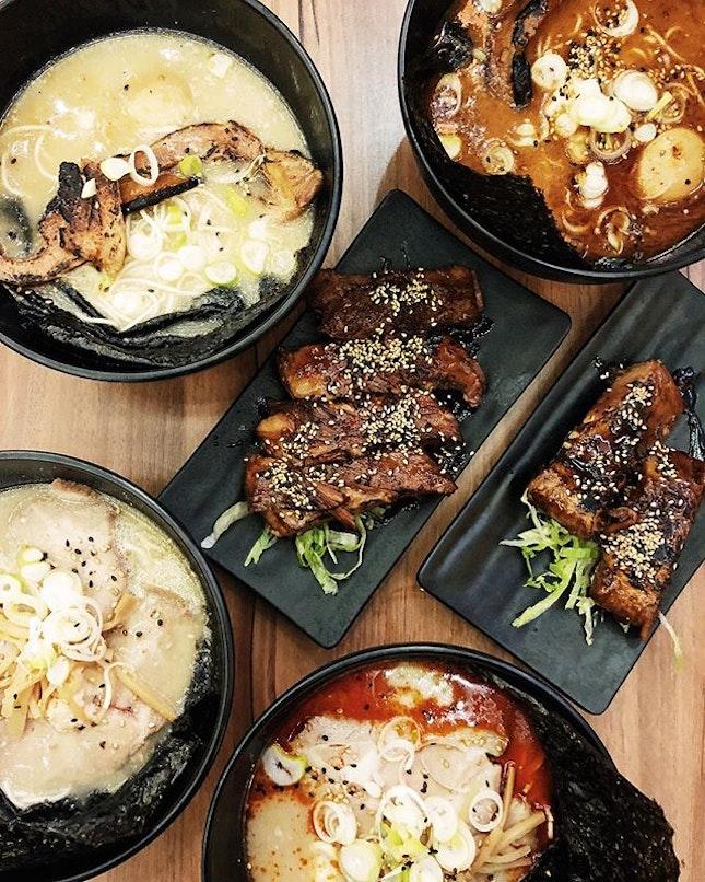 The lovechild of 3 good friends, Buta ramen serves up bowls of ramen with rich, luscious tonkotsu broth, together with falloffthebone pork ribs.