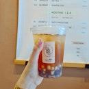 Citrus mint kombucha w chestnut pearls