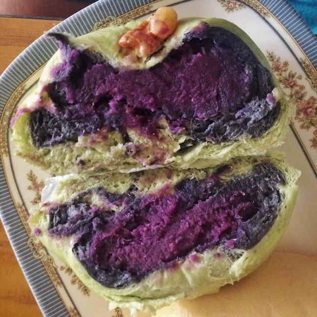 Purple Sweet Potato Bun ($1.90)