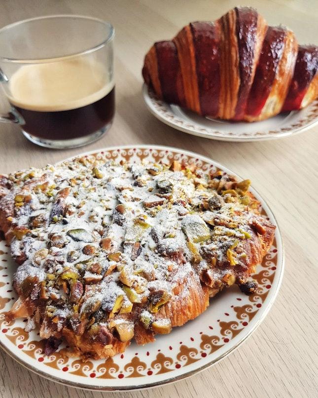 Baklava And Rose Beet Croissants