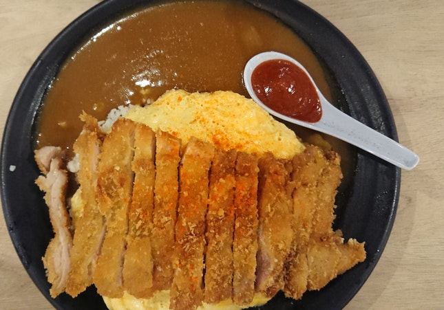 Chicken Katsu Curry With Omlette