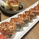 Missing this salmon aburi roll.