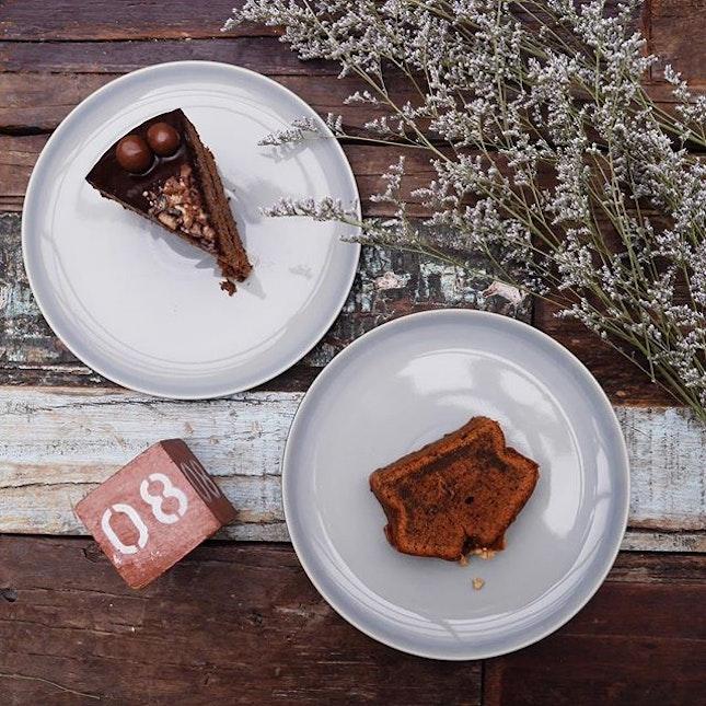 Thai Milk Tea Loaf ($5) & Malt Cake ($8)