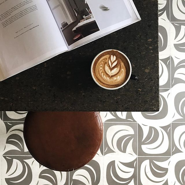 Starting the weekend off right with a cup of flat white.
