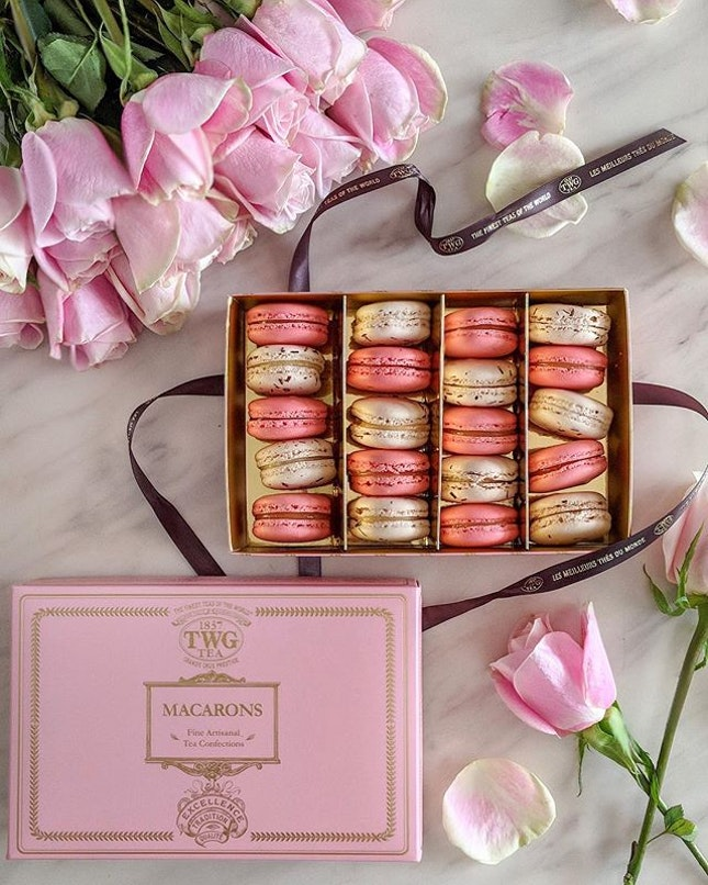 Set hearts aflutter 💕 to satisfy your Valentine's sweet tooth and treat him or her to a perfect gift such as TWG Tea's limited-edition Place Vendôme Tea infused macaron and gift box!