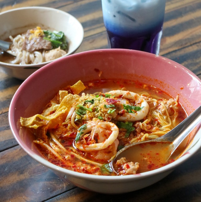 Tom Yum Boran Noodles ($6.50)