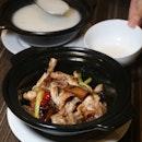 Claypot Frog Legs ($23.50) + Plain Porridge ($5)