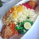 Yee Sang 02 - Thai version (3.4/5) this tasted more like a salad concoction than yee sang..