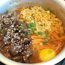 Orchard Gateway Dae Ssik Sin's Ramyun Set at $6.80++ (yes, that includes the free flow of tea and soft drinks too!).