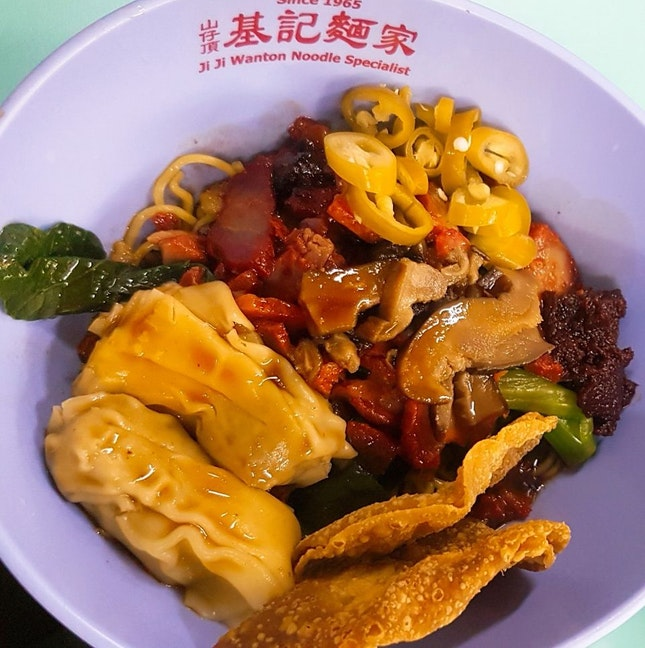 Wanton Noodles With Lots of Ingredients