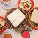 One last local favourite before I fly ✈️ Ya kun's steamed thick toast with butter and kaya (: #yakun #kaya #toast #traditional #local #singapore #breakfast #eggs #coffee #burpple #instafood