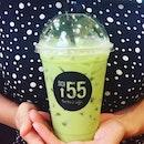 Thai iced milk green tea from Soi55.