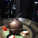 Early grey chocolate sphere 🍫 #elementkualalumpur #friyay #dessertporn