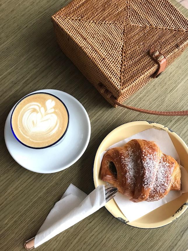 Kaya Croissant And Latte