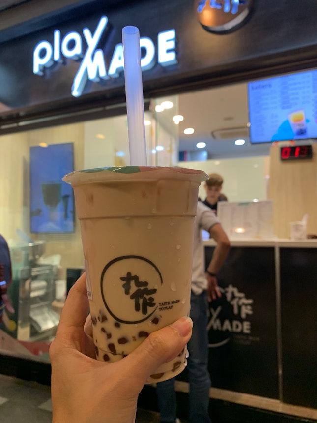 Black Milk Tea With Caramelised Pearls