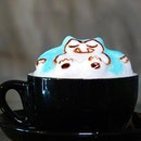 Snorlax Cappuccino (RM9.90++) Wonderful 3D latte art presented to us upon special request, wishes do come true sometimes!!