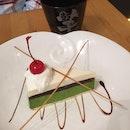 Matcha Cheesecake (not)