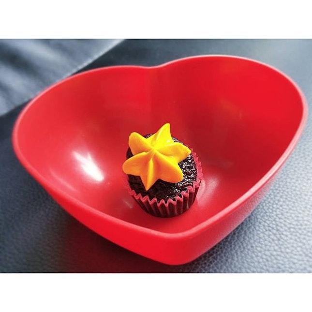 Very mini mango cupcake.
