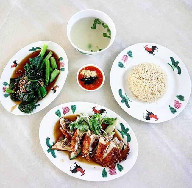 Hunger pangs drove me to eat rice....