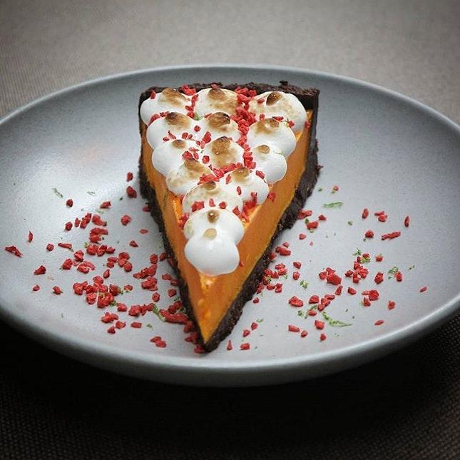 Chocolate calamansi tart.