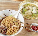 Remember not too long ago, there was a little buzz on this bak chor mee stall at Amoy?